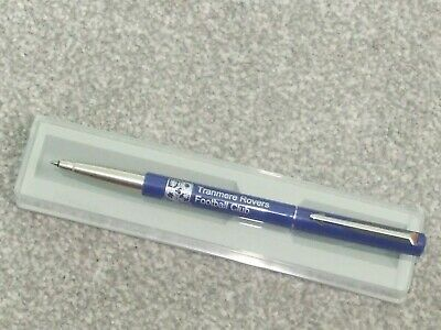 Brand New Parker Pen Boxed Tranmere Rovers Fc Blue / Stainless Steel Roller Ball