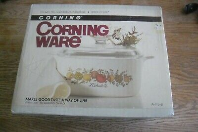 Corning Ware 1 1/2 Qt Covered Casserole Spice of Life NEW, Sealed