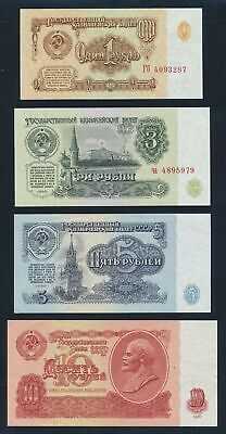 "Russia: 1961-2001 1 to 500 Rubles ""COLLN 9 DIFFERENT"" Pick 222a-268b Cat UNC $40"