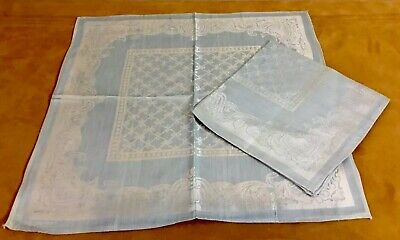 "By-the-Half-Yard M3731 Vintage 1940's-60's Light-Blue Damask 36/"" Wide"