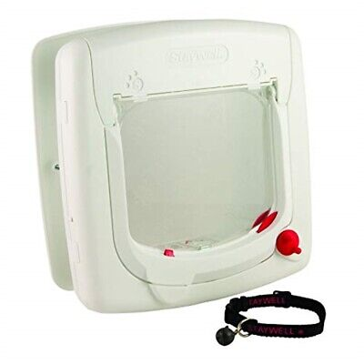 Staywell 400 Magnetic Cat Flap White