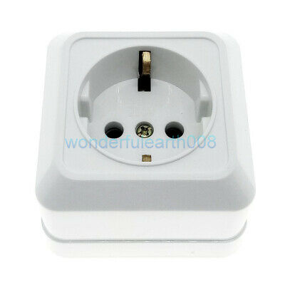 EU Schuko (Type F) Surface Wall Mount Power Socket Outlet AC100~250V 16A CE