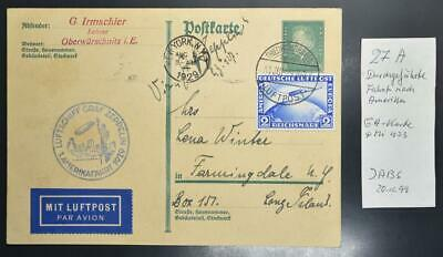 GERMANY to USA 1929, $$$, ZEPPELIN, RARE Airship 1st NAF Flight Airmail Card !!!