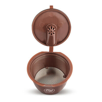 Coffee Capsule Cup For Dolce Gusto Nescafe Machine Reusable Brown Plastic New