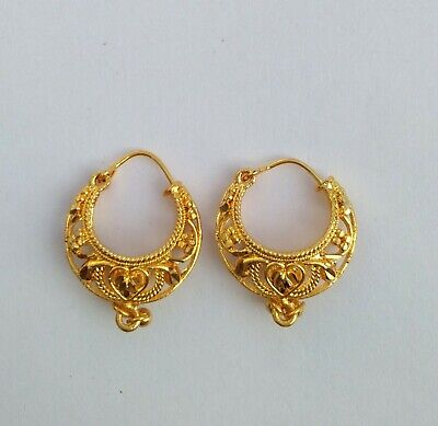 Indian Traditional Gold Plated Ethnic Fashion Jewelry Earrings Women And