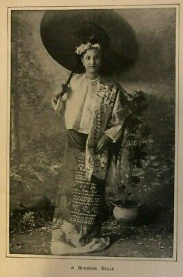 1902 Woman of Burma and Mandalay illustrated