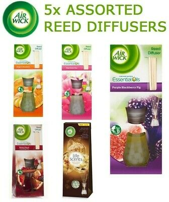 5x AIR WICK REED DIFFUSERS ASSORTED FLAVORS