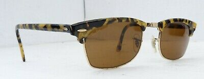 9c27a3eb24 NEW VINTAGE B L Ray Ban Clubmaster Square Blonde Tortoise W1483 ...