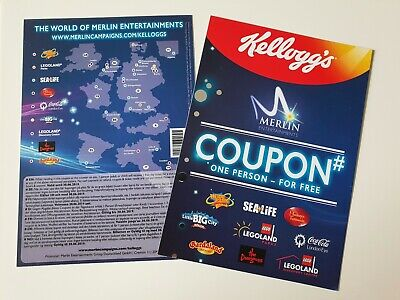 2x MERLIN FREIKARTE GUTSCHEIN COUPON TICKET LEGOLAND SEALIFE HEIDEPARK DUNGEONS