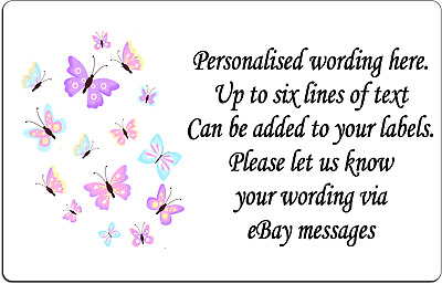 Personalised Flying Butterflies Pretty Self Adhesive address Labels x 260
