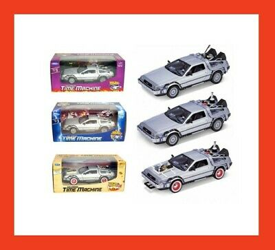 "Delorean Time Machine Set ""back To The Future 1,2,3"" Trilogy Pack 3Set 1/24"