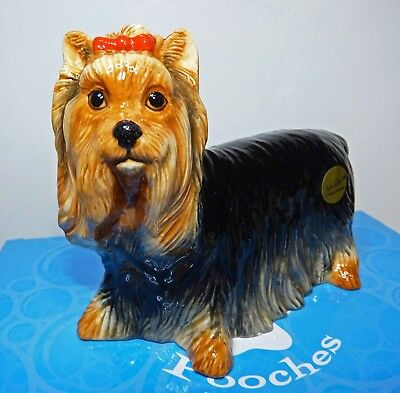 "New /Boxed John Beswick ""Pampered Pooches"" Yorkie/Yorkshire Terrier Dog Ornament"