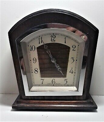 Enfield Mantle Clock, Deco ''tombstone'' Style. Working But Needs Attention