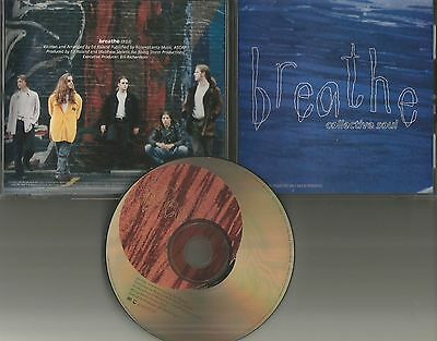 COLLECTIVE SOUL Breathe ULTRA RARE PROMO Radio DJ CD single w/ PRITNED LYRICS