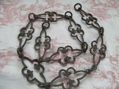 Antique French Brass Chain For A Light/chandelier - Ornate