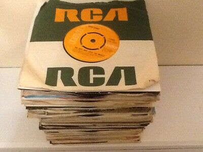 "Job lot of 100 vinyl 7"" singles records 45s 70s and 80s VG to Ex"