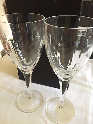 Pair Of Waterford Crystal-John Rocha IMPRINT Wine Goblet Glass 25cm Ex Cond Rare
