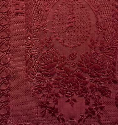 BEAUTIFUL PIECE 19th CENTURY FRENCH SILKY HEAVY BROCADE, ROSES  119.