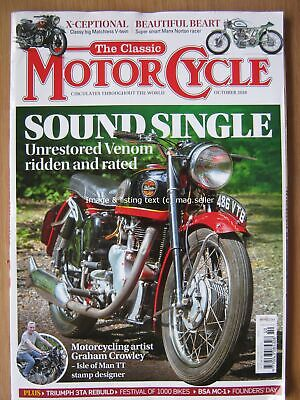 The Classic Motorcycle October 2018 Velocette Venom Matchless Model X Norton
