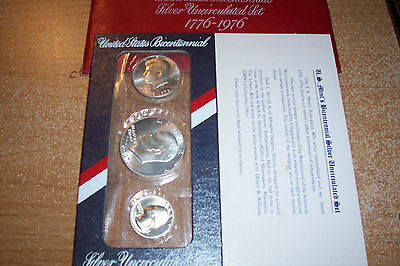 1976 US MINT 'OFFICIAL' BICENTENNIAL .53792 oz. SILVER UNCIRCULATED SET