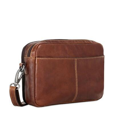 e882d461f Jack Georges Voyager Crossbody Organizer Brown Hand-Stained Buffalo Leather  Bag
