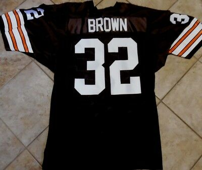 premium selection 58ff9 fbd2f CLEVELAND BROWNS Authentic Jersey Vintage Jimmy Brown Jersey Russell  Athletic