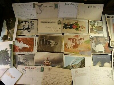 LOT OF 50  VINTAGE POSTCARDS , SCENIC USA VIEWS , 1900s -1960s 👀