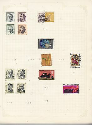 AUSTRALIA Collection 1968-9  GOOD/FINE USED Stamps removed for post.