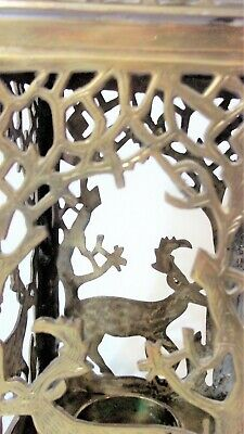 Antique Art Nouveau Style Deer Forest Stag In The Woods Candle Lantern