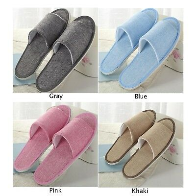 Open Toe Breathable Hotel Slippers Towelling Disposable Travel House Shoes Comfy