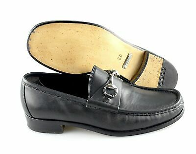 ca972f79d8d GUCCI JORDAAN LEATHER Men s Horsebit Loafers Black Size 8 (Gucci ...