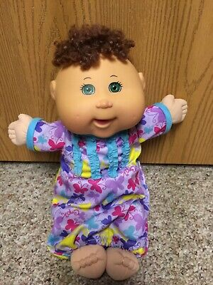 Cabbage Patch Baby Doll approx 12 inches Curly Dark Hair Babies Clothes Dimples