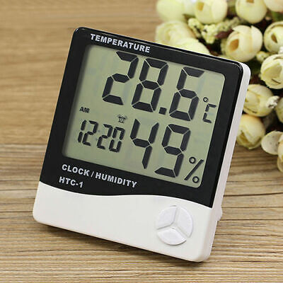 Digital LCD Thermometer Hygrometer Humidity Meter Indoor Temperature Clock CHY