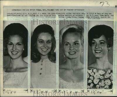 1968 Press Photo Four Miss American Contestants at Atlantic City New Jersey