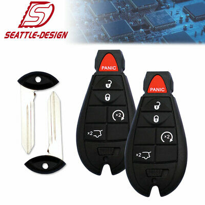 2 For Jeep Grand Cherokee 2008 2009 2010 Keyless Entry Remote Start Key Fob