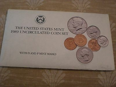 1989 Uncirculated U.S. Mint Set 10 Coins P and D Mint Marks