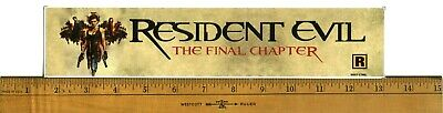 """Resident Evil: The Final Chapter (2017)Box Office Movie Theater Mylar 2.5""""X11.5"""""""