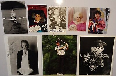 Autograph collection 101 signed items dealers wholesale lot, cards, photos, etc.