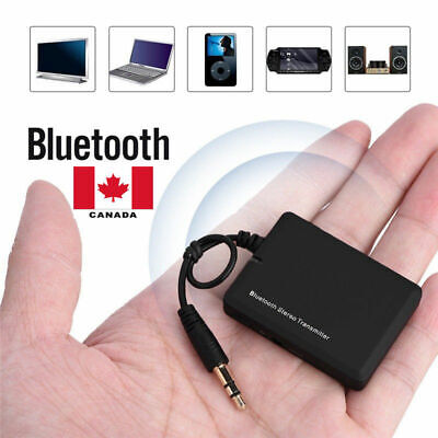 TV AUX Bluetooth Wireless Audio Transmitter Receiver Music 3.5mm Adapter Canada