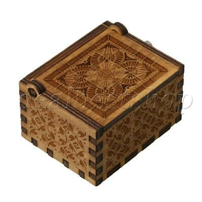 Hand Cranked Music Player Mini Vintage Wooden Music Box for Kids