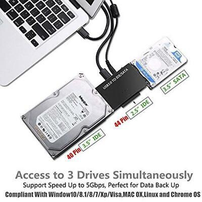 "USB 3.0 to IDE/SATA Converter Adapter Kit For 2.5""/3.5"" SATA/IDE/SSD Hard Drive"