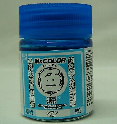 MR. HOBBY CR1 Primary Color Pigments Cyan 18ml (100ml = 18,83 EUR)