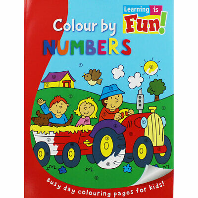 Learning is Fun - Colour by Numbers (Paperback), Children's Books, Brand New