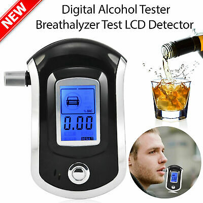 Digital Breathalyzer LCD Police Breath Test Analyzer Alcohol Tester Detector AUU