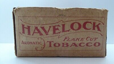 Antique Havelock Cardboard Box Tobacco Tin Australian Advertising Sign Package