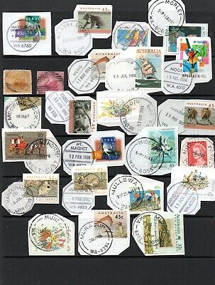 Selection Of W.a. Postmarks On Mostly Decimal Stamps.