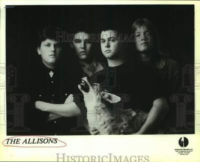 Press Photo Four Members of the band The Allisons - sap09613