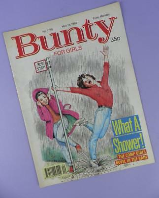 Bunty Comic Number 1740, May 18th 1991 Includes Patrick Swayze Poster