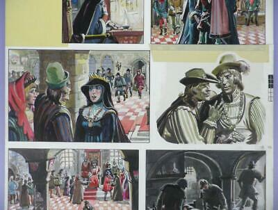 Original 1960s Look & Learn Artwork, Shakespeare's Richard III By Robert Forrest