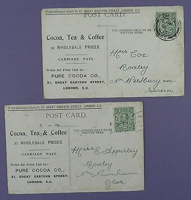 Pure Cocoa Company, 37 Great Eastern Street London-  Old Postcards